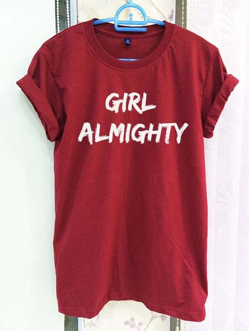 Girl Almighty Shirt One Direction 1D Crimson Red by SeeYouSupplies