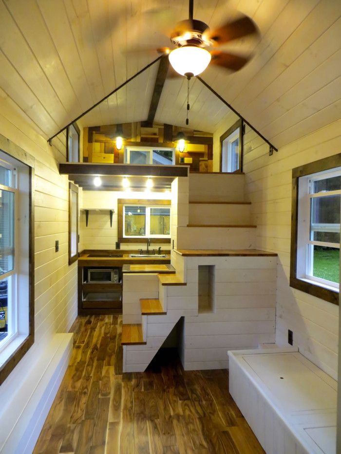 Robins Nest Interior-Brevard Tiny House Company...this Space Is So Cute, I Could Die. 8x24 Feet