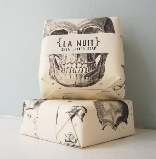 LA NUIT: Design Products, Skull, Funny Commercial, Packaging Design, Wraps Paper, Shea Butter, Lanuit, Soaps Packaging, La Nuit