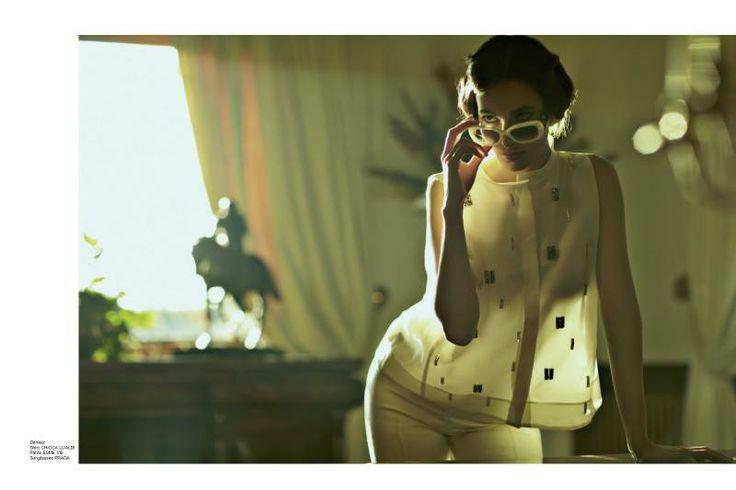 Daniela Shirt Chicca Lualdi Pants Esme Vie Sunglasses Prada  http://www.luxuryfiles.it/en/magazine/Winter-2013-14-8
