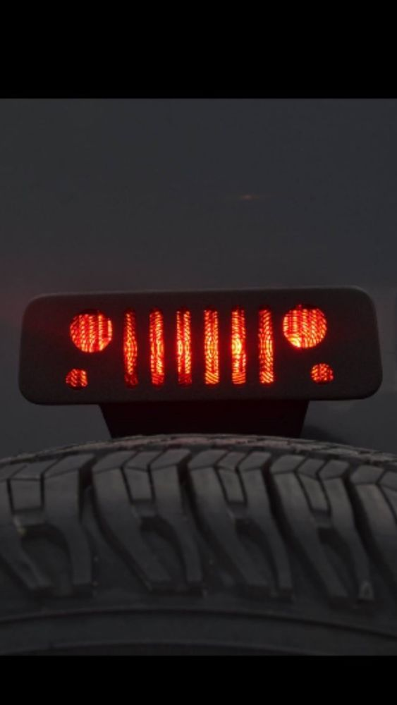 2007 2016 Jeep Wrangler JK 3rd Brake Light Cover Decal Jeep Grill | eBay
