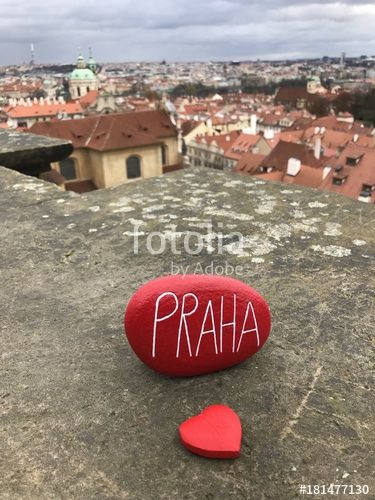"Download the royalty-free photo ""Love Praha, souvenir with a red stone and city landscape"" created by yournameonstones at the lowest price on Fotolia.com. Browse our cheap image bank online to find the perfect stock photo for your marketing projects!"