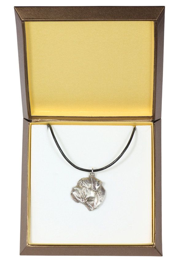NEW Bullmastiff dog necklace in casket limited by ArtDogshopcenter