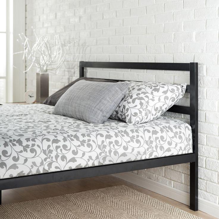 Priage Black Steel Platform Full Size Bed - 18597415 - Overstock - Great Deals on Priage Kids' Beds - Mobile