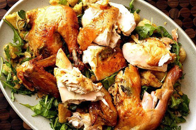 RIP Judy Rodgers. Zuni Cafe roast chicken & bread salad.