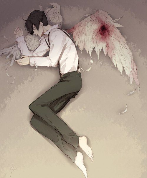 Kết quả hình ảnh cho injured angel boy anime