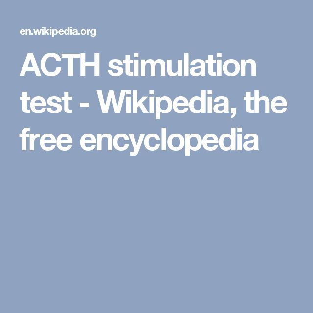 ACTH stimulation test - Wikipedia, the free encyclopedia