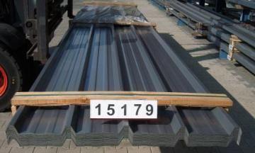 Paket 15179 / DD - OMD   O-Metall Trapezprofil 40.250/4 Dach   Stahlsonderprofil Hochvergütungsstahl beidseitig sendzimirverzinkt 275 gr.Zink/m² - Materialstärke: 0,63 mm Polyesterfarblackierung 25µ Farbton ä. RAL 7015 schiefergrau   Nutzdeckbreite pro Platte: 1,000 Meter Liefer-Rechnungsbreite pro Platte: 1,050 Meter   1A Lagerware