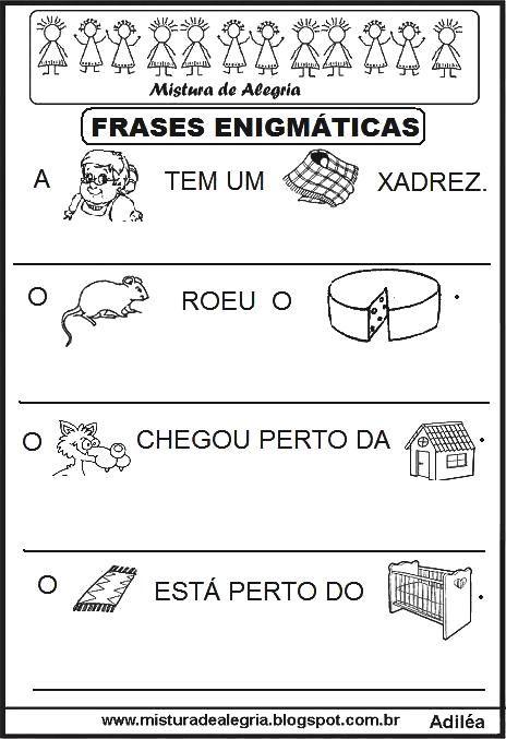 frases-enigmaticas-alfabetizacao-imprimir-colorir-1.JPG (464×677)