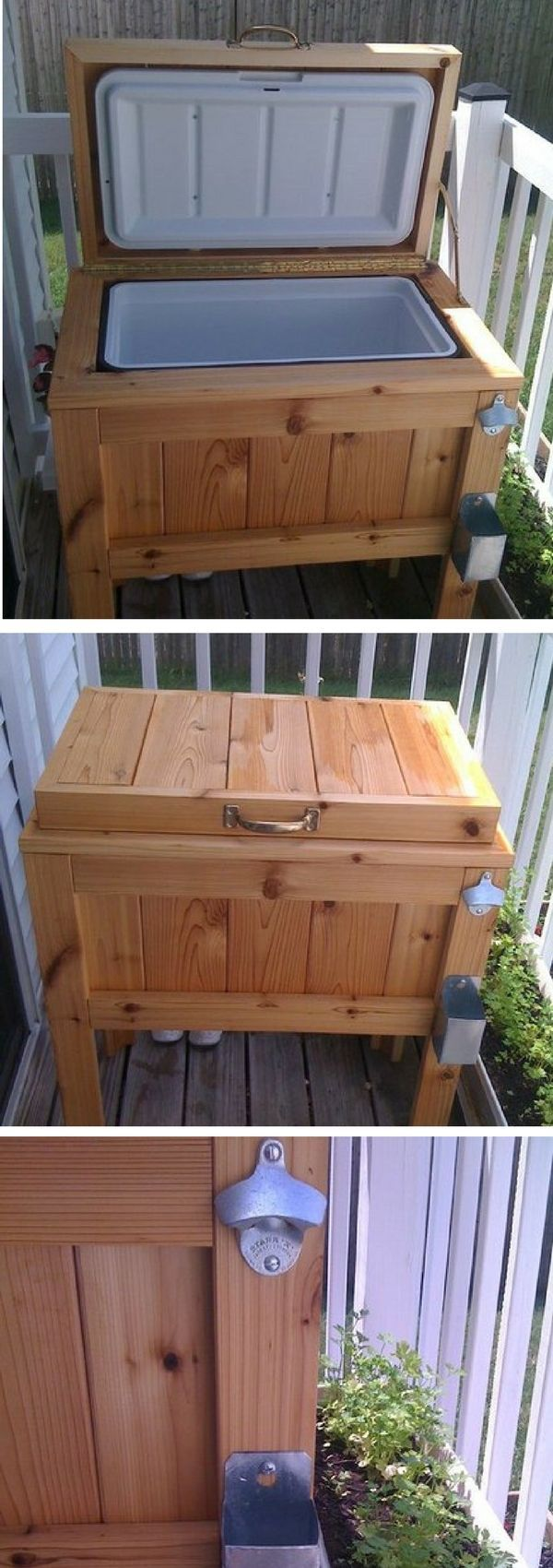 DIY footed patio cooler @istandarddesign