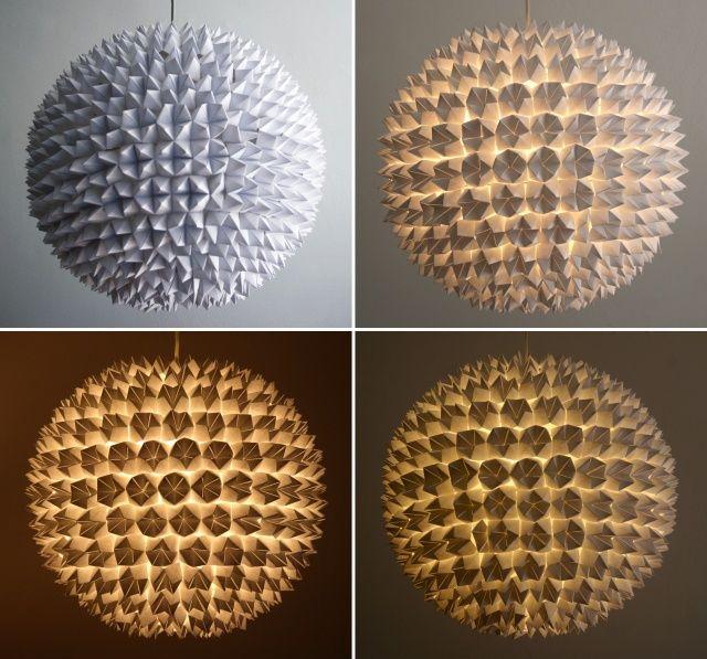 INSPIRÁCIÓK.HU Kreatív lakberendezési blog, dekoráció ötletek, lakberendező tanácsok: Kreatív ötlet: hajtogatott gömb lámpa
