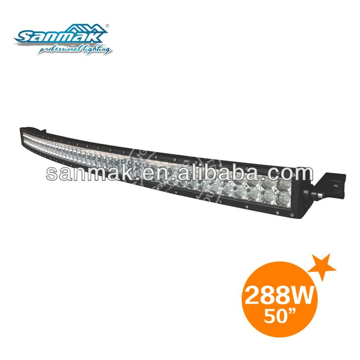 50 inch 288W 4x4 Cree Led Car Light, Curved Led Light bar Off road,auto led light arch bent $50~$80