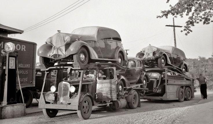 Chevrolet Car Carrier with 1936 Oldsmobiles. Late 1930s Split Tandem Truck 8 x 11 Photograph | eBay