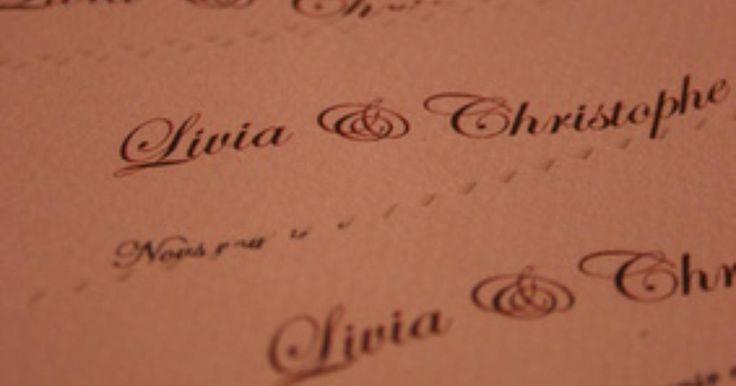 Forma apropiada de dirigir las invitaciones de boda