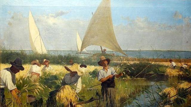 La siega del arroz en la Albufera, 1899. Antonio Fillol (1870-1930).