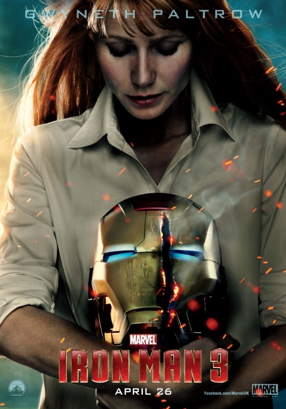 84 best iron man images on pinterest iron man avengers movies and gwyneth paltrow as virginia pepper potts in new iron man 3 poster via comic book resources voltagebd Gallery