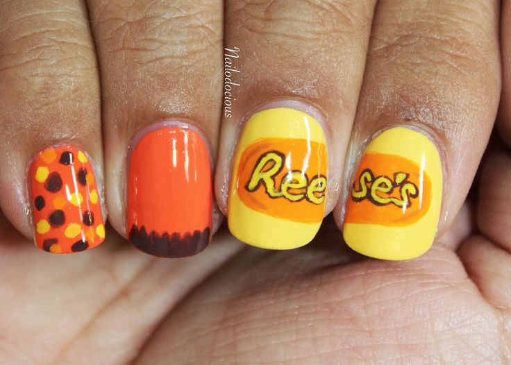 33 best peanut butter images on pinterest enamels nail chocolate peanut butter themed nail art prinsesfo Gallery