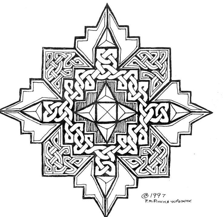 Mandala Celtic Tangle By P
