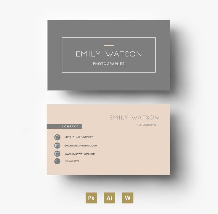 Simple Business Card Design Simple Business Card Design - Business card layout template