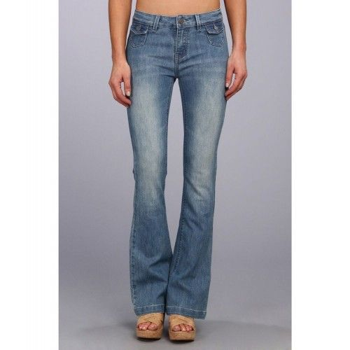 Oferte Haine Originale: Blugi Buffalo David Bitton Gallia Flare Jean in Light Blue