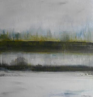 """Acrylique on canvas  50 x 50 cm  """"D'une rive à l'autre"""""""