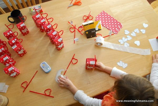 Valentines Day Juice Boxes With Printable Box
