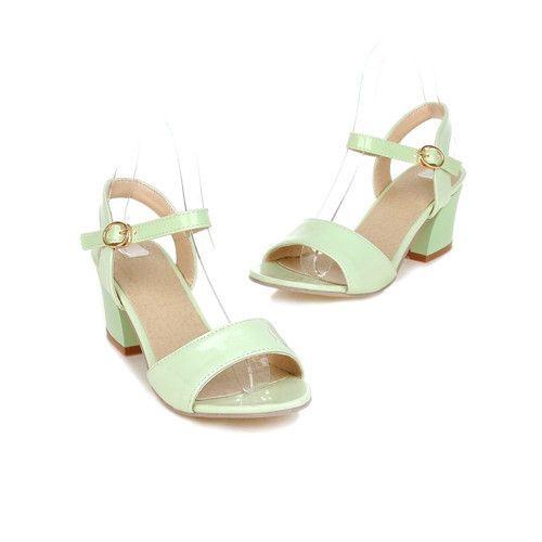 Meotina Mujeres Sandalias Zapatos de Verano 2017 Sandalias de Tamaño 9 10 Abierto Señoras del dedo del pie Gruesos zapatos de Tacón Alto Sandalias Zapatos Blanco Rosa Verde 34 43 en Sandalias de las mujeres de Zapatos en AliExpress.com | Alibaba Group