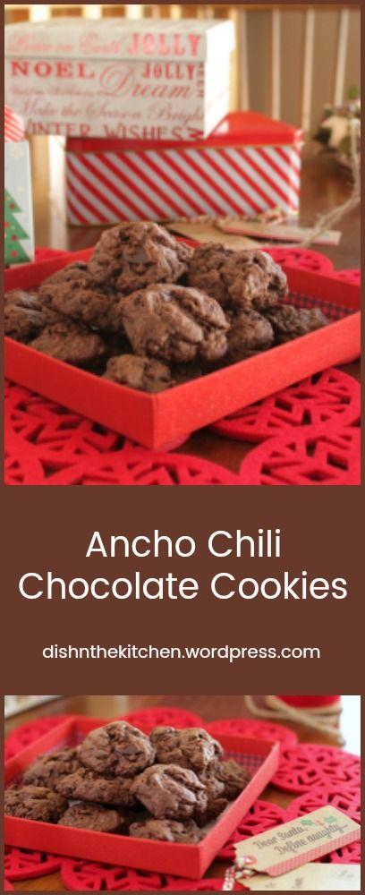 Ancho Chili Chocolate Cookies - Dish 'n' the Kitchen