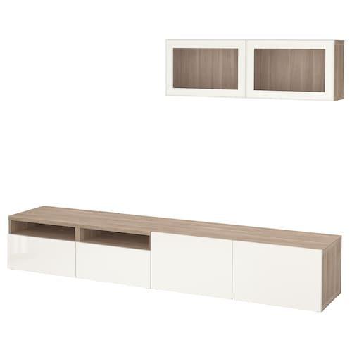 Pax Armoire D Angle Blanc Reinsvoll Gris Vert 210 160x236 Cm Porte Verre Salon Marron Et Meuble Rangement Salon