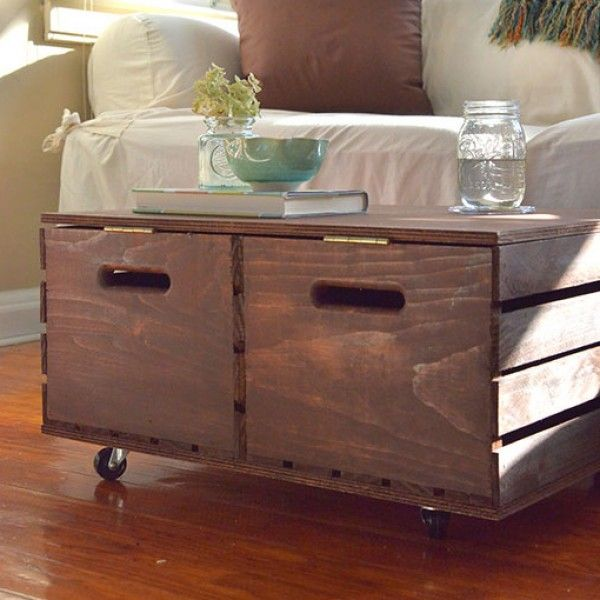 1000 images about help me decorate my home on pinterest for How to make a coffee table out of crates