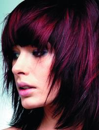 LOVE the color! red+violet I really want to do this to my hair. Not necessarily the cut but def the color