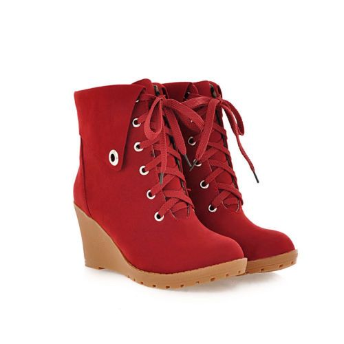 Womens-Fashion-Wedge-Heels-Round-Toe-Lace-Up-Ankle-Boots-Oxford-Retro-Warm-Shoes