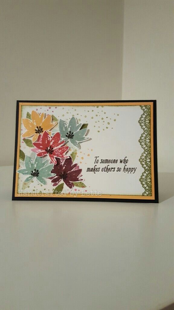 Another card using Advant Garden stamp set. Stampin Up. made by Bernadette Maroun Handcrafted by Dette.