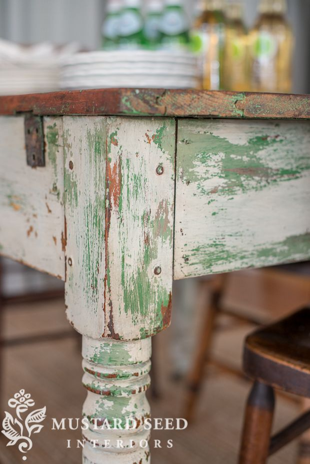 creating a chippy finish   milk paint   Miss Mustard Seed   furniture painting   furniture makeover
