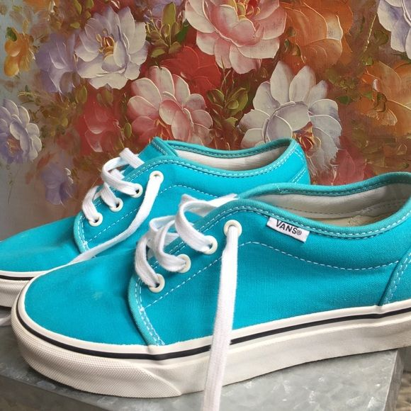 Teal Vans sneaks These have been worn very minimally. 7.5 teal blue Vans Vans Shoes Sneakers