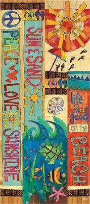 Amazon.com : Studio M - Peace, Love, and Sunshine 3' Art Pole - PP256 : Patio, Lawn & Garden
