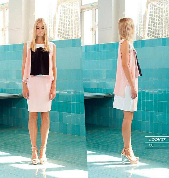 A fekete és a rózsaszín elegáns párosítás - AnnCHI, Liquid Cubes 2013-as nyári kollekció