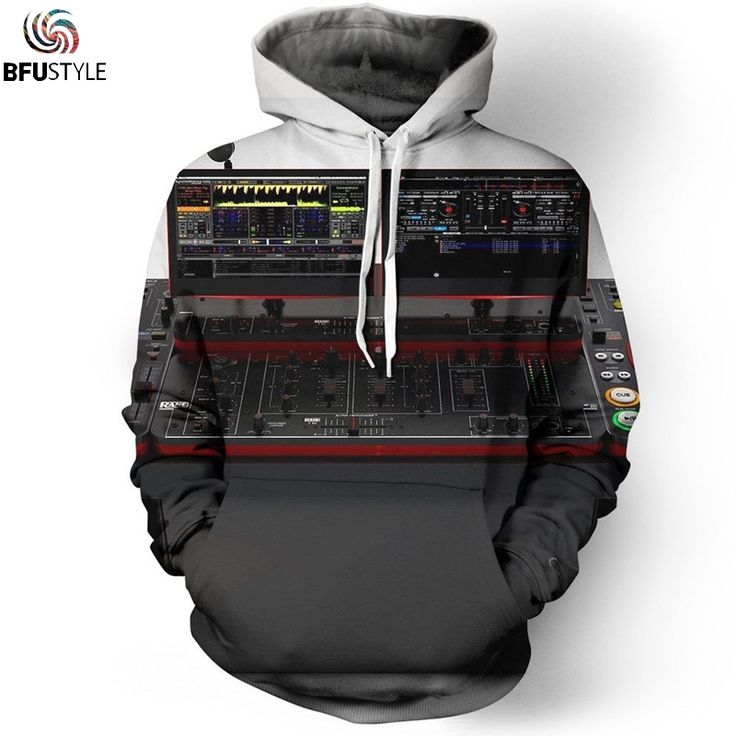 Audio Editor Mixer Dj 3D Hoodies 2017 Men/Women Sportswear Tracksuit Casual Plus Size Clothing Brand Hooded Sweatshirt Dropship #Affiliate