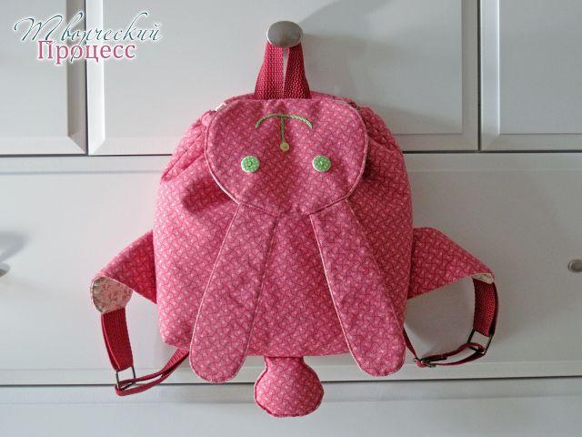 Детский рюкзак-заяц