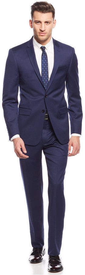 DKNY New Navy Chino Extra Slim-Fit Suit