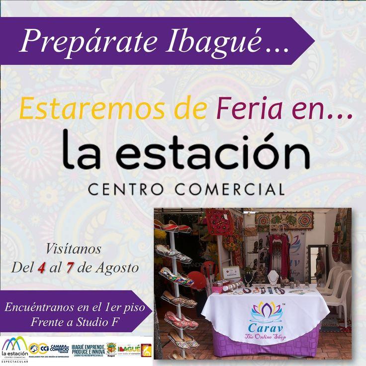 Preparate #Ibagué! Fin de semana de #Feria en #LaEstacion!! Visitanos y encuentra super #descuentos y #promociones en tus productos #Carav favoritos! E inscribete en nuestros #sorteos!!!  Muestra Empresarial con el patrocinio de: La Estación Centro Comercial Ibagué, Cámara de Comercio Ibagué, Laboratorios Microempresariales y Alcaldía de Ibagué.