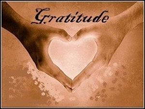Gratitude another word for thanks