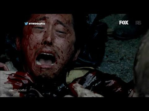 The Walking Dead - Glenn's Death>> if you watch closely u will notice that when nicholas falls, he falls on tap of glenn. When the walkers are pulling those guts out, those are nicholas' guts. Glenn is just screaming bcz u no he's surrounded by dozens of walkers and on the ground