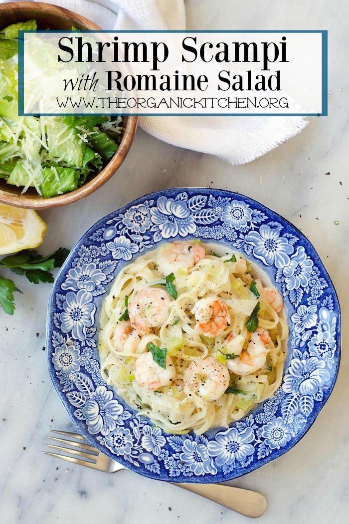 ad: Shrimp Scampi with Romaine Salad