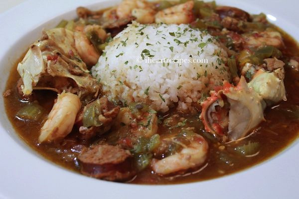 How to make Seafood, Chicken, and Andouille Sausage Gumbo . My mom's parents came from Baton Rouge, so with that being said… We love us some Gumbo! No seriously! In addition to the turk…