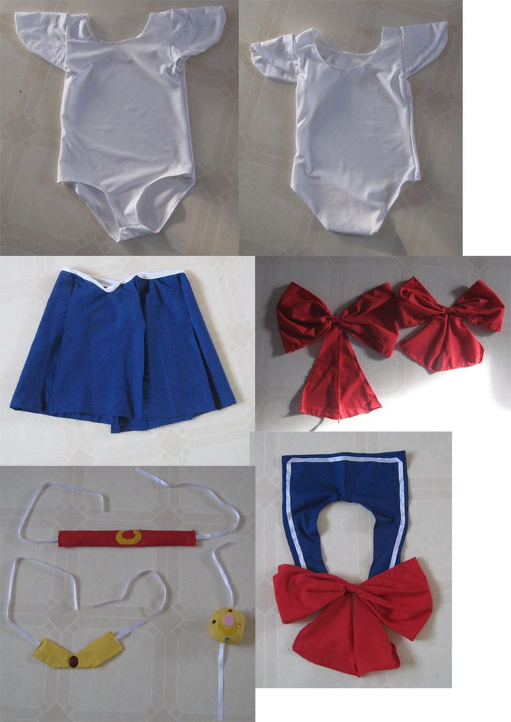 So this is what I have done so far for Aislyn's Sailormoon costume. She tried it on again after school and the sleeves are a little too big, but otherwise its ok. The scarf will have stripes, I jus...