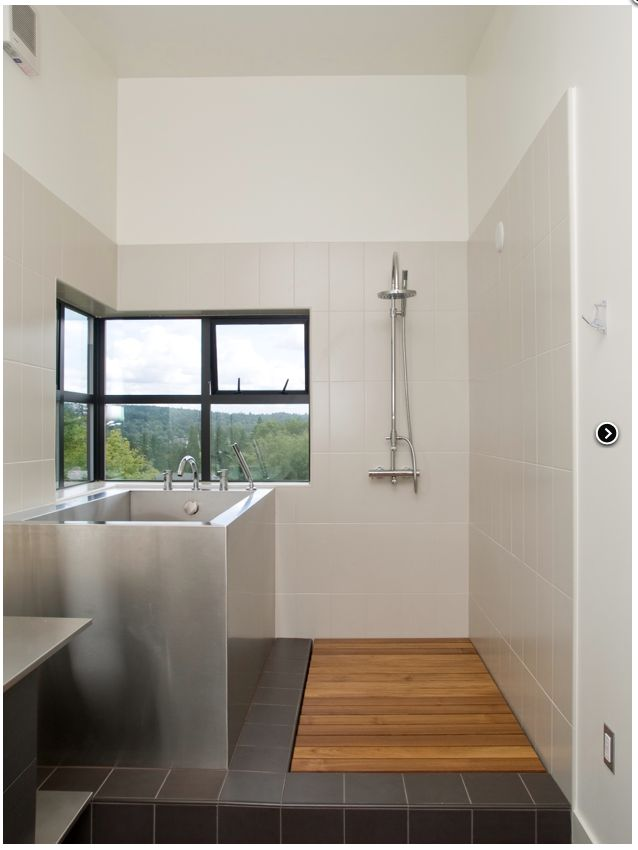 Good light, separate shower and soaking tub. No need for expensive glass.  PH 1 baths - modern - bathroom - seattle - PLACE, hl johnston architect ltd