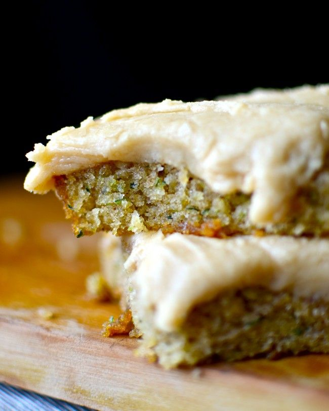Zucchini Bars with Browned Butter Frosting by yammiesnoshery #Bars #Zucchini #Brown_Butter