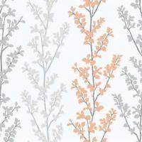 G56332 Tempo Floral Grey & Orange Galerie Wallpaper