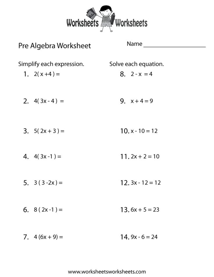 Year 1 Maths Worksheets Word  Best Algebra Worksheets Images On Pinterest  Algebra  Babysitting Worksheets with Preposition Worksheets With Pictures Prealgebra Review Worksheet  Free Printable Educational Worksheet Independent Clause Worksheets Word